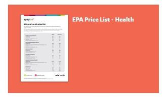 Health Standards and Price List