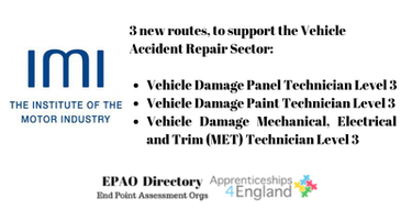 IMI have been approved as an EPAO for additional Apprenticeship Standards.