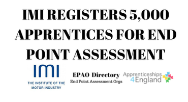 IMI Registers 5,000 Apprentices for End Point Assessment