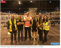 Four apprentices working for the NEC Group have recently become the first in the UK to complete their Live Event Rigging Apprenticeship. epao JGA
