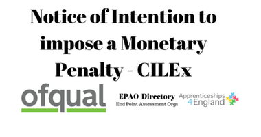 Notice of Intention to impose a Monetary...