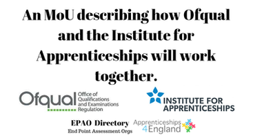 An MoU describing how Ofqual and the Ins...