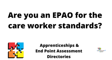 Are you an EPAO for the care worker stan...
