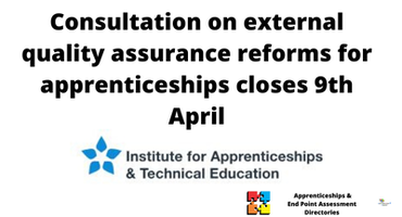 Consultation on external quality assurance reforms for apprenticeships