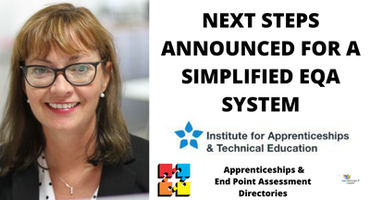 NEXT STEPS ANNOUNCED FOR A SIMPLIFIED EQA SYSTEM
