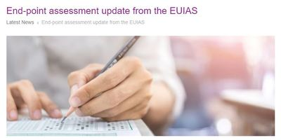 End-point assessment update from the EUIAS
