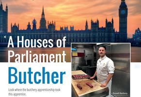 Russell shows the sky's the limit for butchery apprentices
