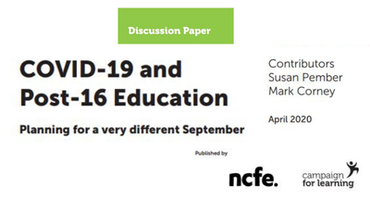 Addressing the impact of COVID-19 on post-16 education