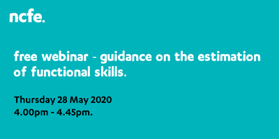 Free webinar - guidance on the estimation of functional skills