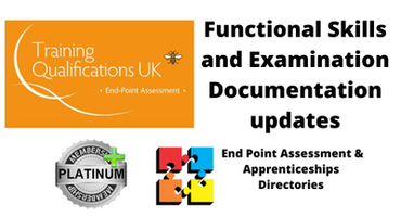 Functional Skills and Examination Documentation updates