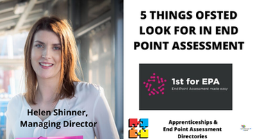 5 THINGS OFSTED LOOK FOR IN END POINT ASSESSMENT
