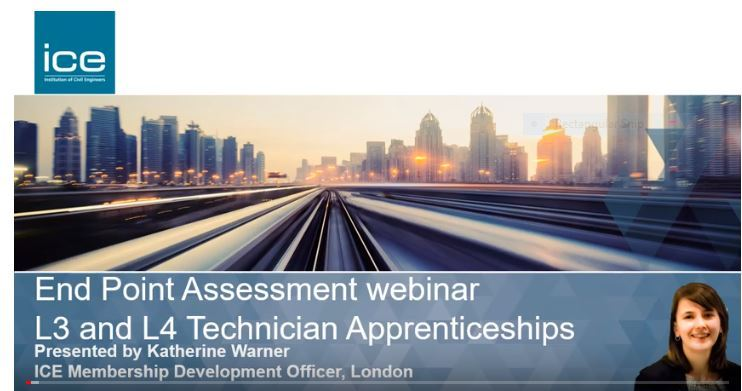 End Point Assessment webinar for Level 3 and Level 4 Technician Apprentices