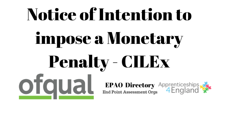 Notice of Intention to impose a Monetary Penalty - CILEx
