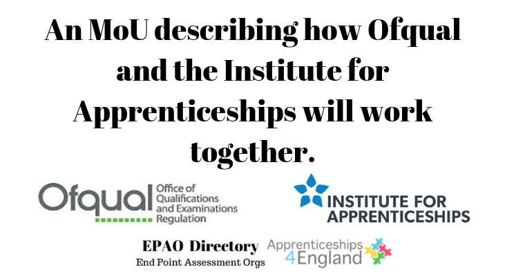 An MoU describing how Ofqual and the Institute for Apprenticeships will work together.