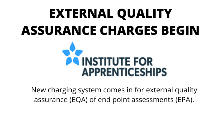The Institute has started charging for the external quality assurance (EQA), where it is the provider.