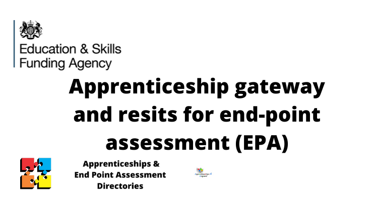 Apprenticeship gateway and resits for end-point assessment (EPA)