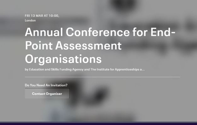 End-point assessment organisations conference (ESFA and the Institute for Apprenticeships and Technical Education)