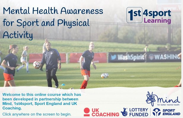 Mental Health Awareness for Sport & Physical Activity